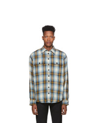 DSQUARED2 Blue Military Fit Shirt