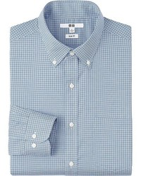Uniqlo Easy Care Slim Fit Checked Long Sleeve Shirt