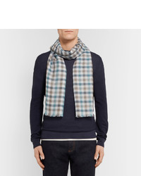 Loro Piana Checked Cashmere And Silk Blend Scarf