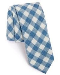 Light Blue Check Tie