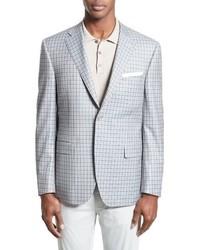 86185b90526 ... Canali Classic Fit Check Wool Sport Coat