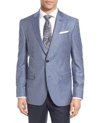 Ted Baker London Trim Fit Check Wool Sport Coat