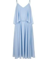 Light Blue Chiffon Midi Dress