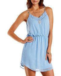 Charlotte Russe Curved Hem Chiffon Dress