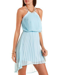 Charlotte Russe High Low Pleated Chiffon Dress