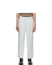Second/Layer Blue Chuco Pleated Trousers