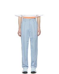 Haider Ackermann Blue High Waist Trousers