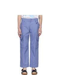 Jacquemus Blue Le Pantalon Cueillette Trousers