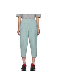 Homme Plissé Issey Miyake Blue Pleats Tailored Wide Leg Trousers