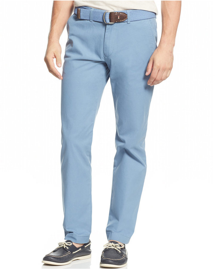 1207789cada Tommy Hilfiger Custom Fit Chino Pants, $59 | Macy's | Lookastic.com