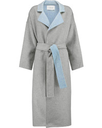 10 Crosby By Derek Lam Reversable Wool Blend Felt Trench Coat