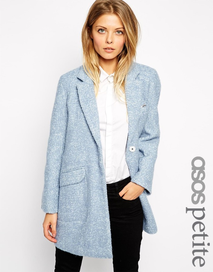 Asos Petite Slim Coat In Texture Where To Buy Amp How To Wear
