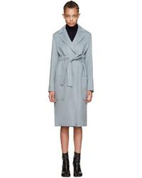 Helmut Lang Blue Belted Coat