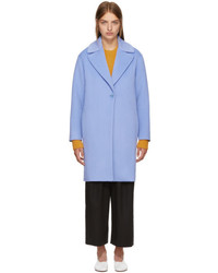 Cédric Charlier Blue Wool Coat