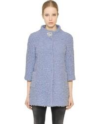 Blugirl Embellished Wool Blend Boucle Coat