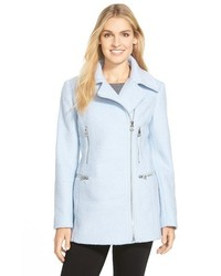 GUESS Boucl Asymmetrical Zip Coat