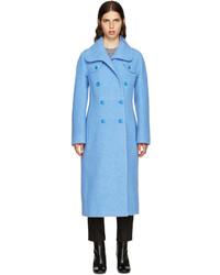 Carven Blue Wool Coat