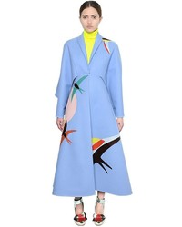 DELPOZO Sparrow Detail Double Sided Wool Coat