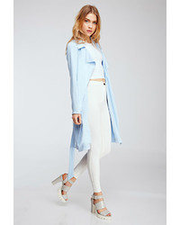 Forever 21 Draped Twill Woven Trench Coat