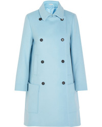 Paul & Joe Efarniente Wool Blend Felt Coat Sky Blue