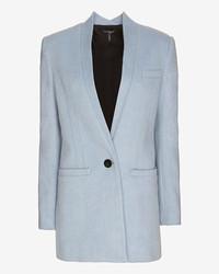 Exclusive for Intermix For Intermix Boyfriend Car Coat Dusty Blue
