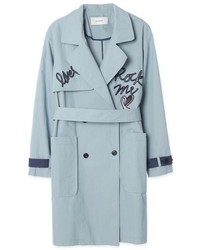 Flap Embroidery Trench Coat Amh26a322ll