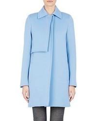 Paco Rabanne Foldover Flap Coat Blue