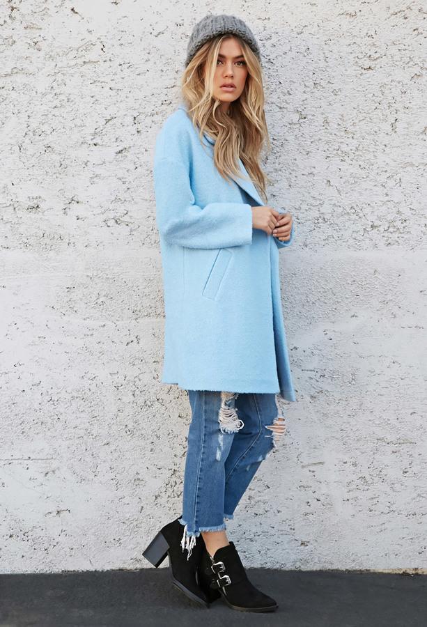 21 Pastel Blue Bedroom Designs Decorating Ideas: Forever 21 Oversized Boucl Coat