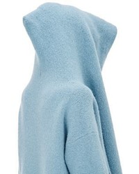 LAUREN MANOOGIAN Hooded Capote Coat Light Blue