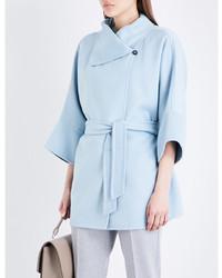 Max Mara Ladies Navy Fattore Cashmere Coat