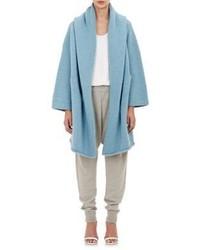 LAUREN MANOOGIAN Hooded Capote Coat Light Blue