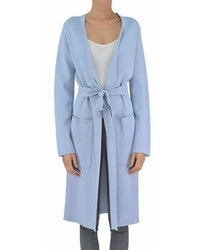 Pinko Light Blue Viscose Coat