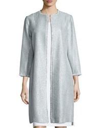 Kay Unger New York Long Tweed Coat Sky Blue