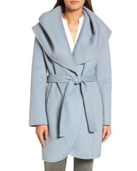 Marla double face wool blend wrap coat medium 4913689