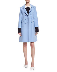 Michael Kors Michl Kors Double Breasted A Line Coat Powder Blue