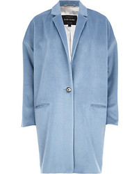 River Island Light Blue Oversized Coat