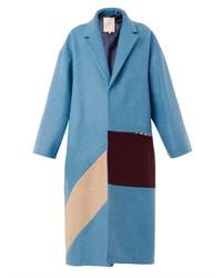 Roksanda Larkin Tri Colour Felted Wool Coat
