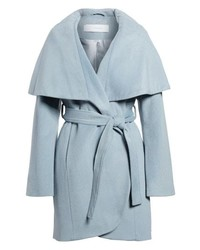 Tahari T Wool Blend Wrap Coat