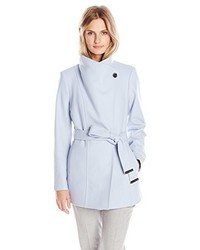 Ted Baker Paria Short Button Detail Wrap Coat