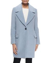 Elie Tahari Wool Blend One Button Coat