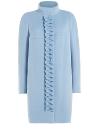 Paule Ka Wool Coat With Ruffled Front