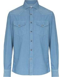 Brunello Cucinelli Two Pocket Corduroy Shirt