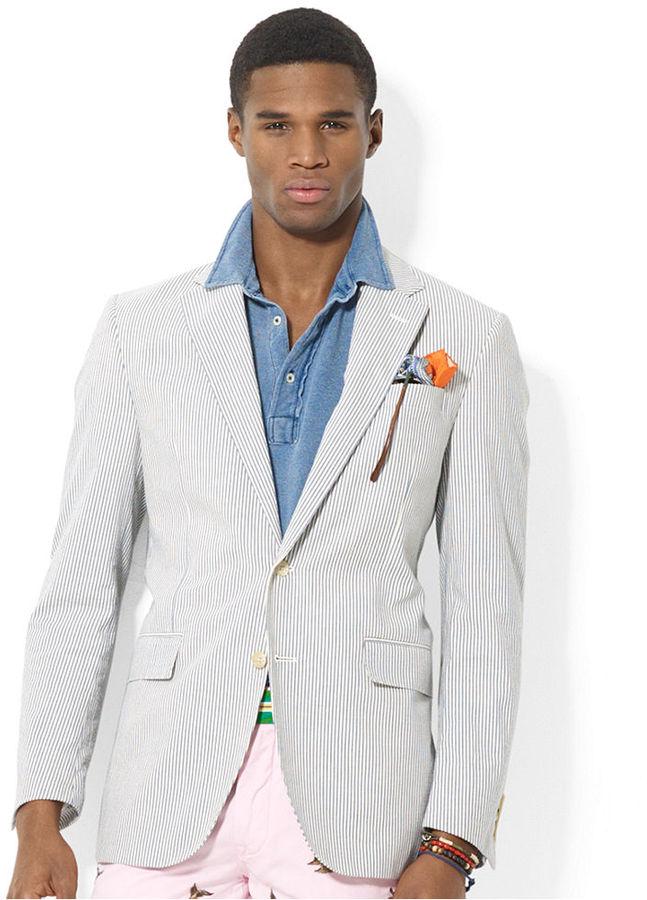 Polo Ralph Lauren Seersucker Sport Coat 495 Macy S Lookastic Com
