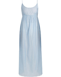 Thierry Colson Slip Cotton And Silk Blend Midi Dress