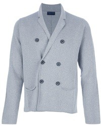 Light Blue Cotton Double Breasted Blazer