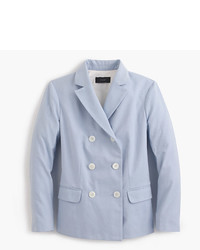 J.Crew Double Breasted Blazer In Italian Cotton