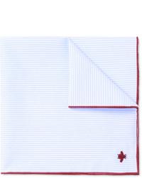 Gucci Embroidered Striped Cotton Pocket Square