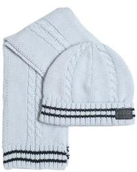 HUGO BOSS Tricot Cotton Scarf Hat