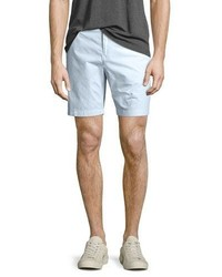 Burberry Tailored Cotton Chino Shorts Pale Opal Blue