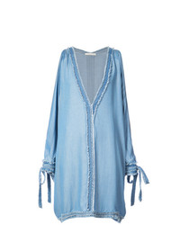 JONATHAN SIMKHAI Frayed Cold Shoulder Cover Up